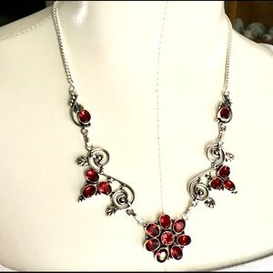 Jewelry - NEW Red crystal statement necklace